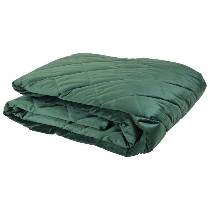 Allure Velvet Bed Comforter, 280x140cm, Green