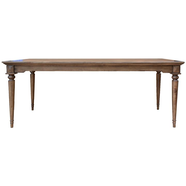 Aldreth Pine Timber Dining Table, 200cm
