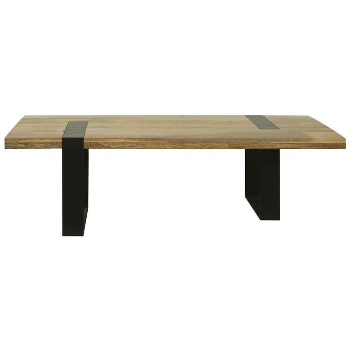 Alpine Mango Wood  Iron Coffee Table, 115cm