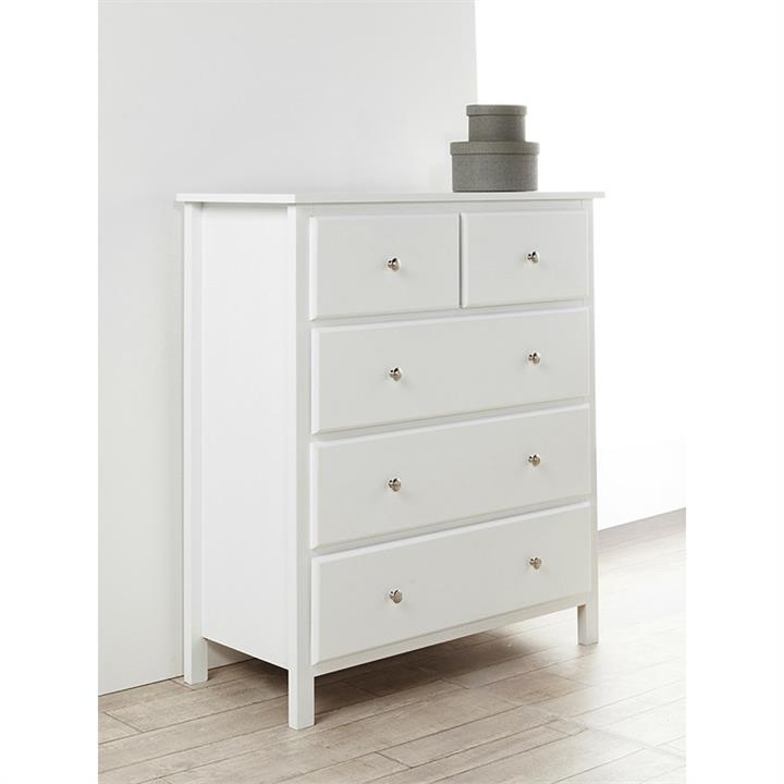 Brodie Wooden 5 Drawer Tallboy