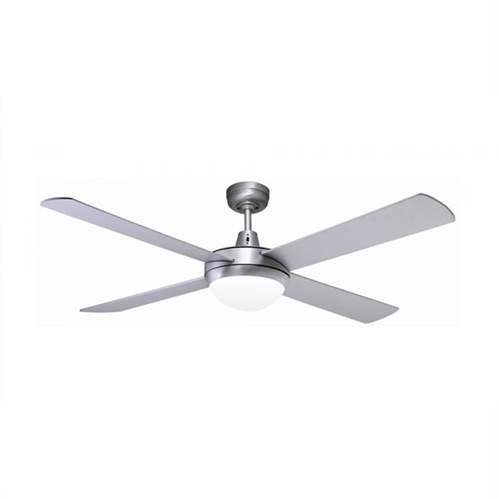 Lifestyle Cast Aluminium Ceiling Fan with Light by Martec - Brushed Aluminium Finish