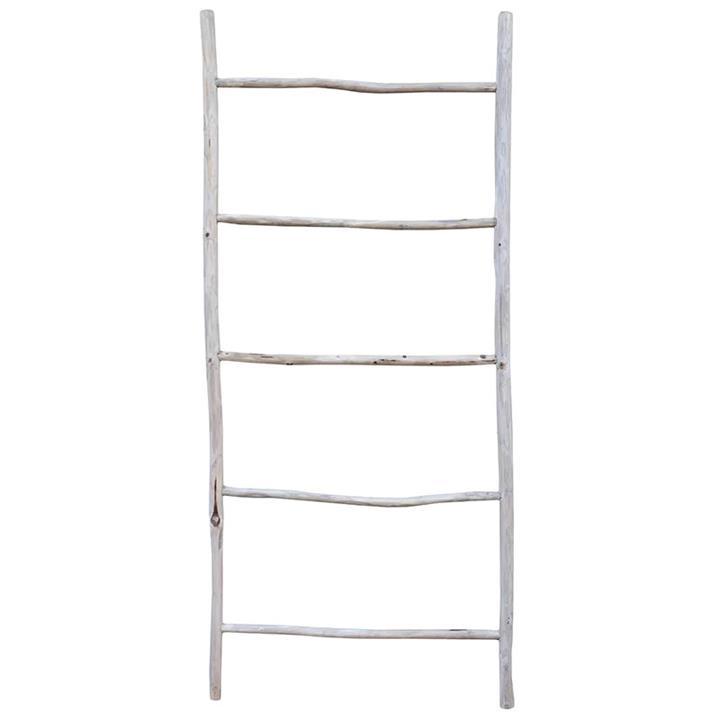 Glyn Teak Timber Decorative Ladder Rack, 200cm
