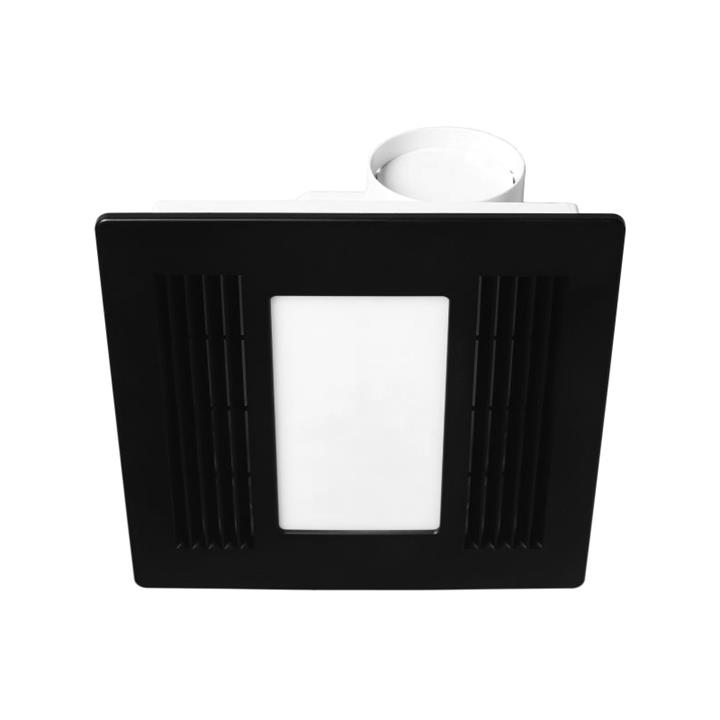 Aceline Bathroom Exhaust with LED Light, Black