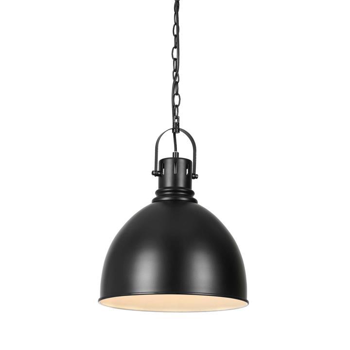 Market Metal Industrial Pendant Light, Black