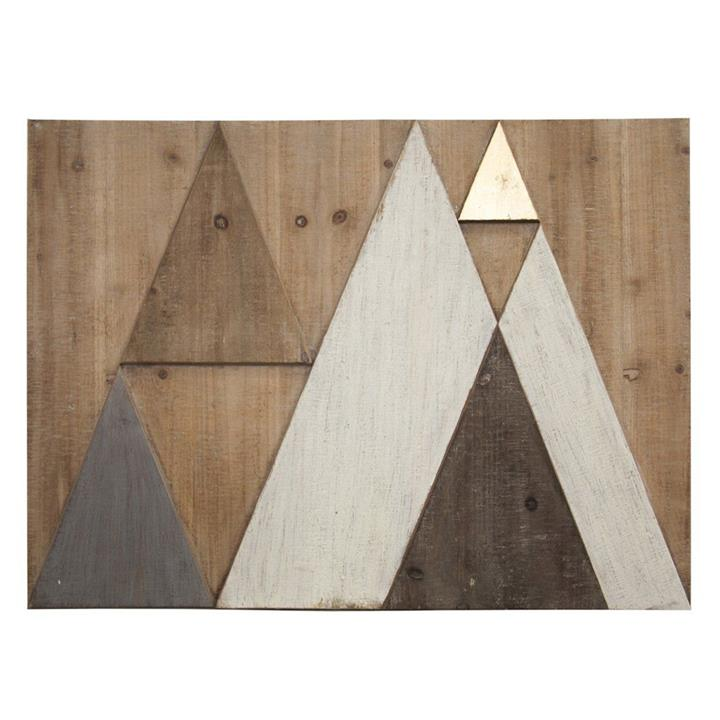 Abstract Mountains Timber Wall Art, Landscape, 80cm