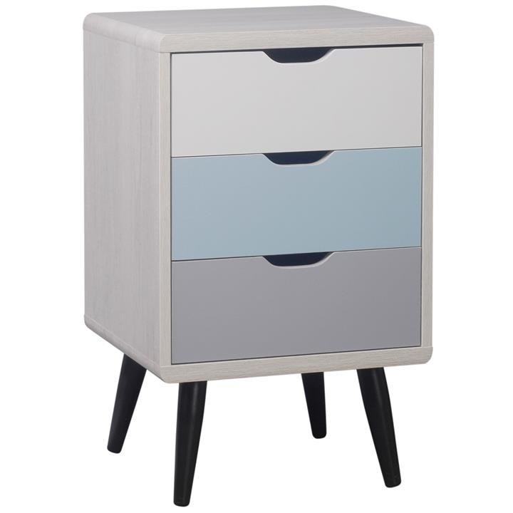 Adrian 3 Drawer Side Table
