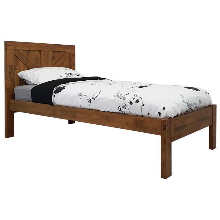 Jayden Wooden Bed, King Single