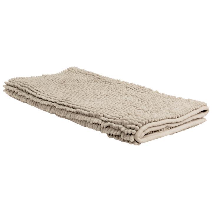 Algodon 1600gsm Microfibre Toggle Bath Mat, 100x50cm, Stone