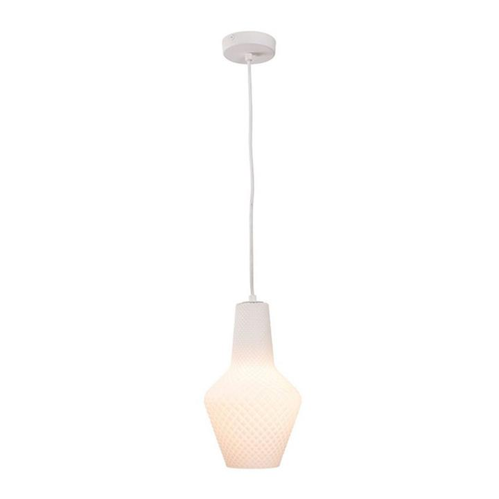Alba Glass Pendant Light, Small, Opal