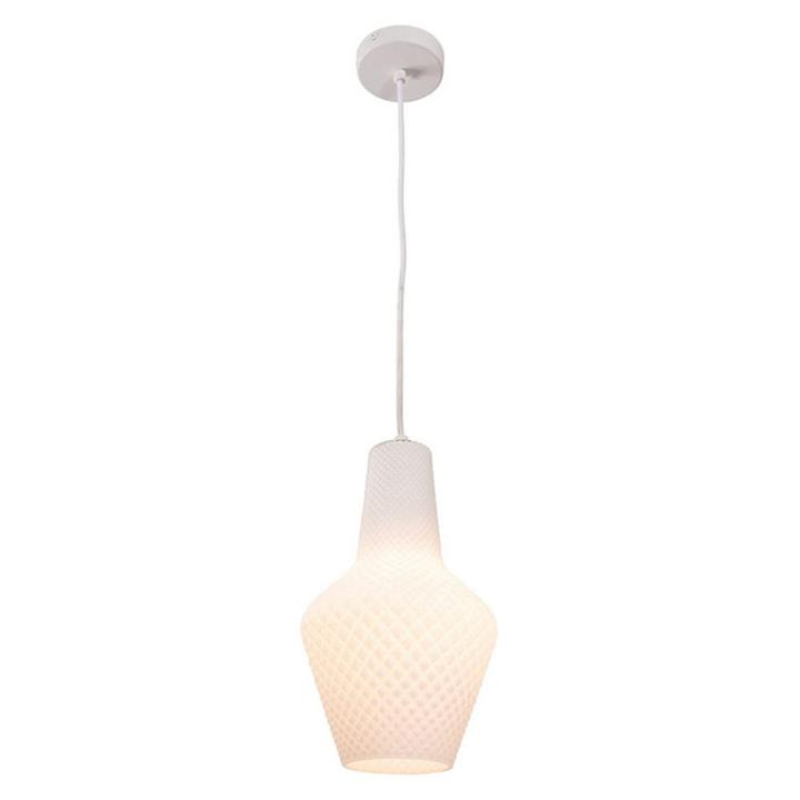 Alba Glass Pendant Light, Large, Opal