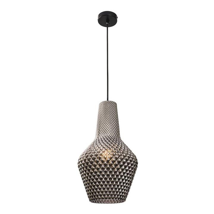 Alba Glass Pendant Light, Large, Smoke