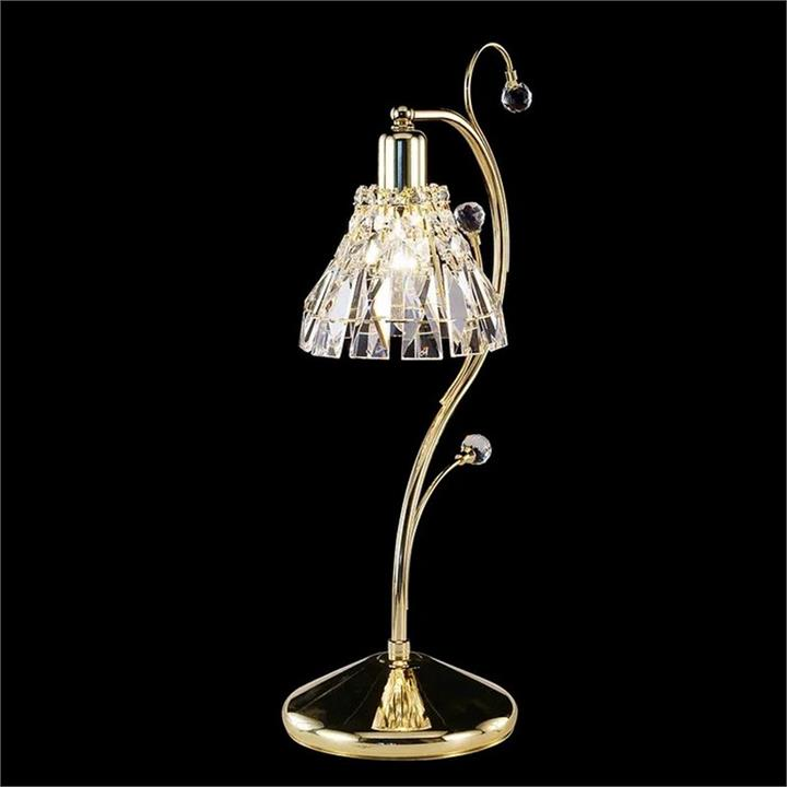Aphrodite Asfour Crystal Table Lamp, Gold