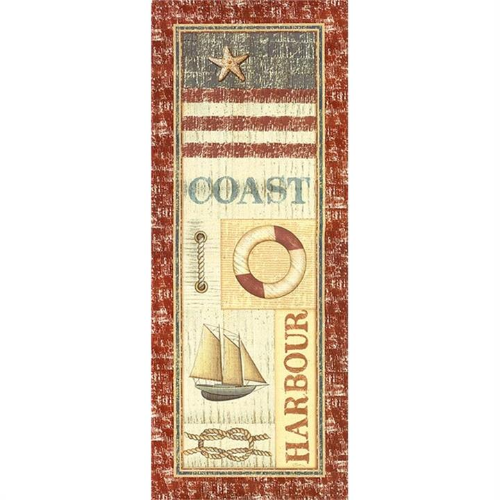 Coastal Icons 30x75cm Cotton Canvas Print - Sailing