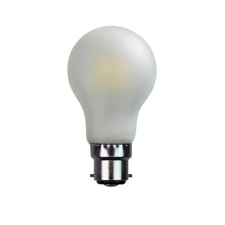 Allume A60 Dimmable LED Globe, B22, 6W, 2700K, Frosted White