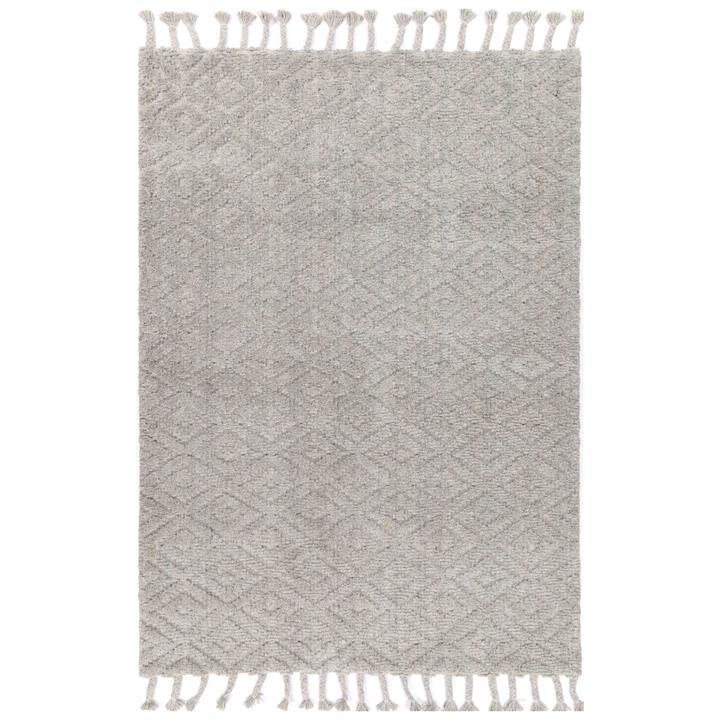 Goa No.04 Hand Tufted Modern Wool Rug, 290x200cm, Grey