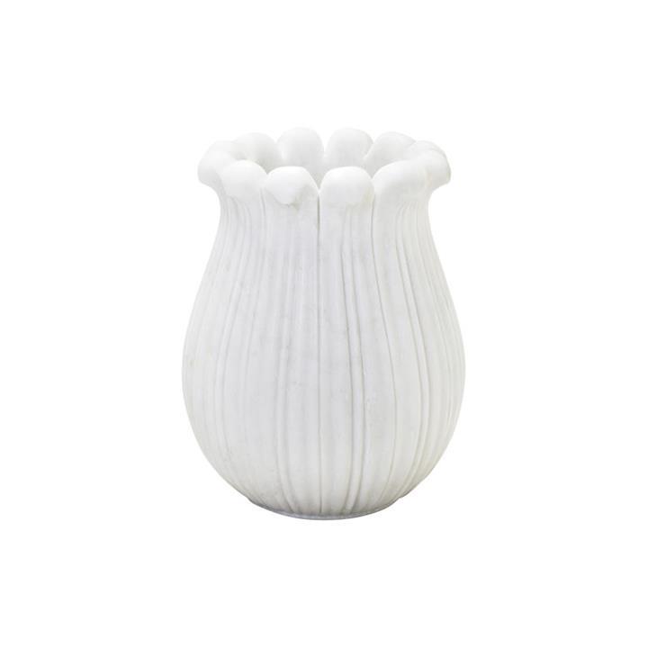 Aglia Marble Tulip Vase, Small