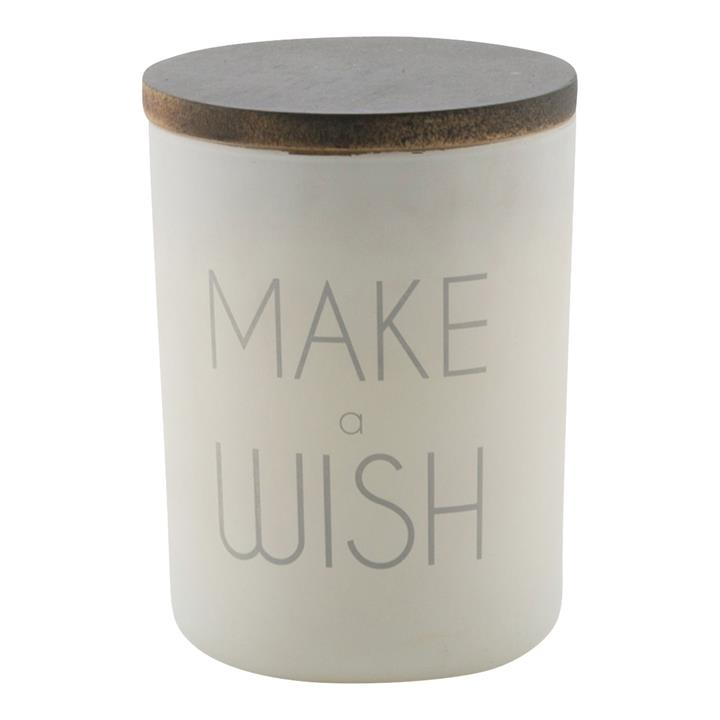 Make a Wish Frosted Glass Candle Holder with Linen Scent Wax