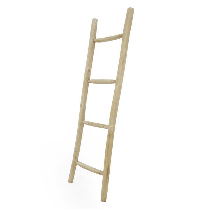 Thiago Teak Timber Indoor / Outdoor Ladder Rack, 165cm