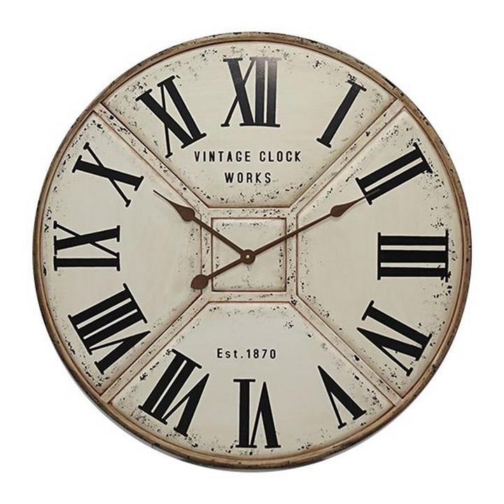 Avebury Iron Round Wall Clock, 70cm