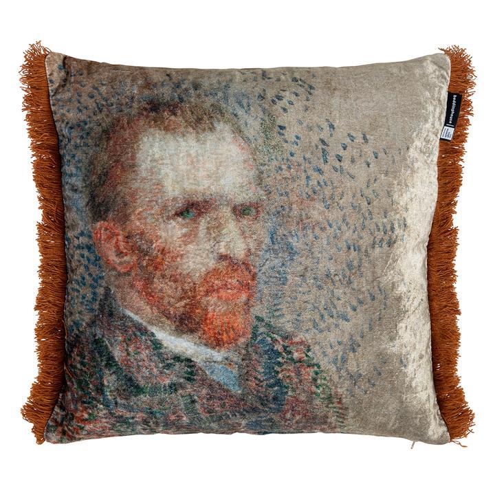 Beddinghouse Van Gogh Self Portrait Velvet Scatter Cushion