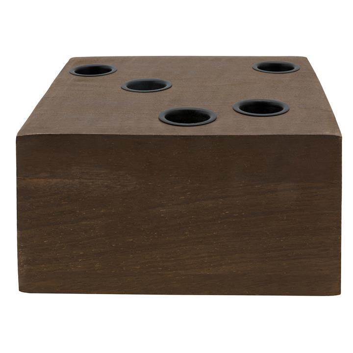 VTWonen Wooden Block Reversible Candle Holder