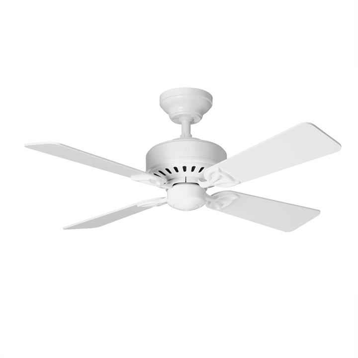 Hunter Bayport White Ceiling Fan with White / Light Oak Switch Blades