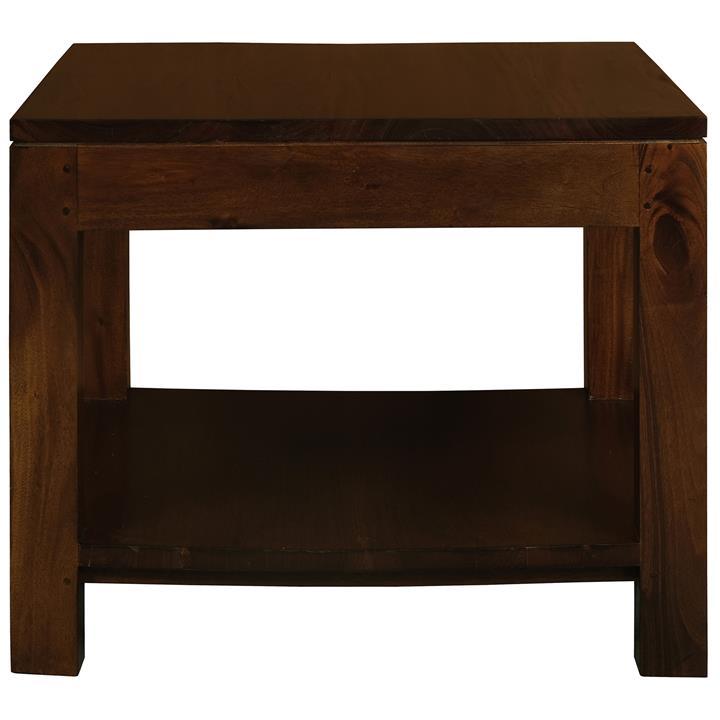 Amsterdam Solid Mahogany Timber Side Table, Mahogany