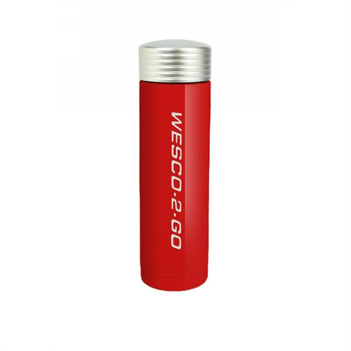 Wesco 350ml Stainless Steel Vacuum Flask for Hot and Cold Drinks - Red