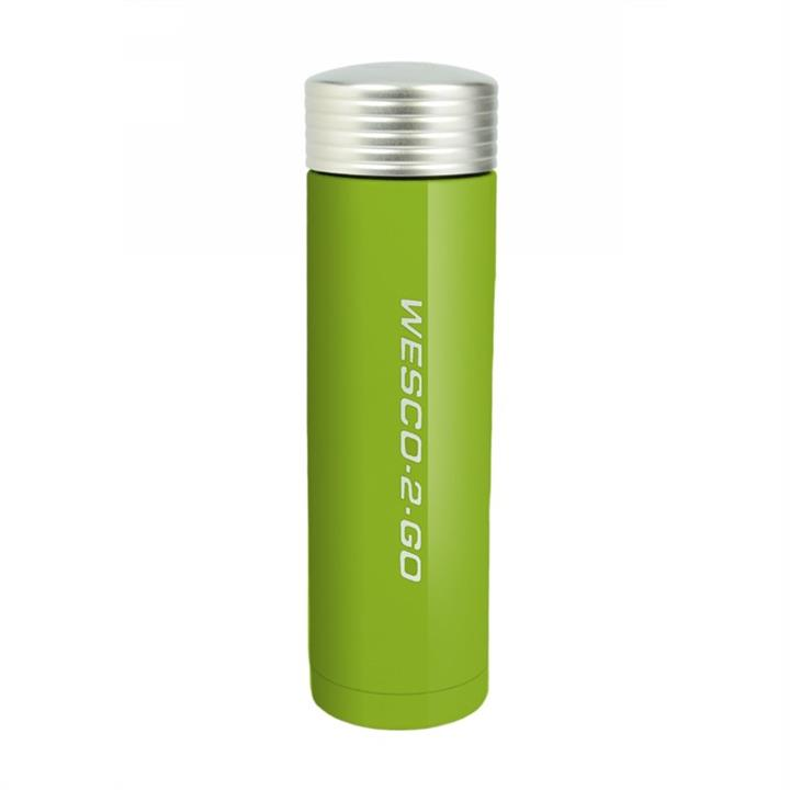 Wesco 450ml Stainless Steel Vacuum Flask for Hot and Cold Drinks - Lime Green