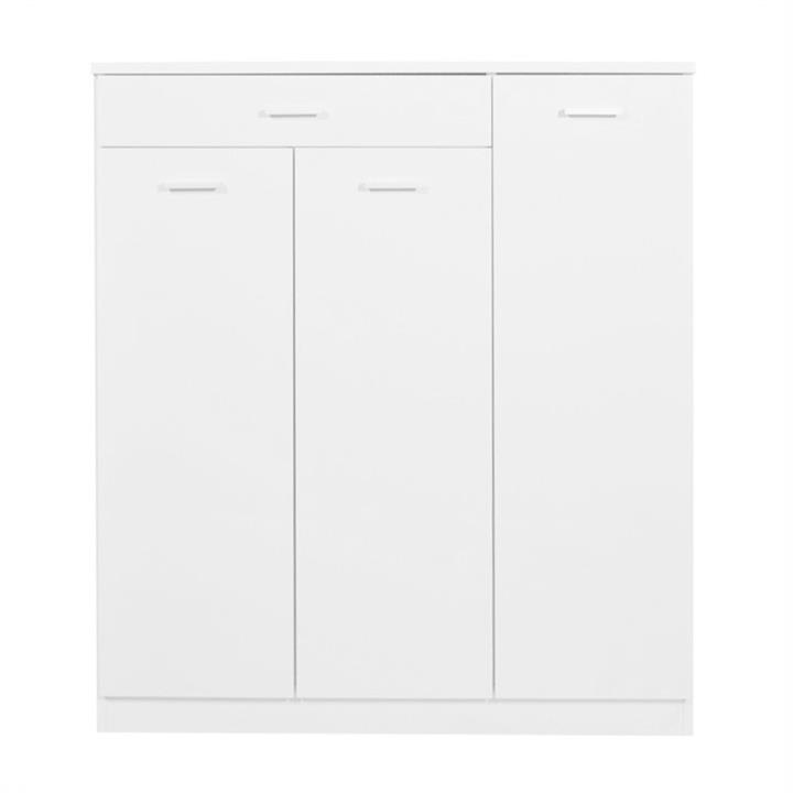 Adrian 3 Doors 1 Drawer Shoe Cabinet - White