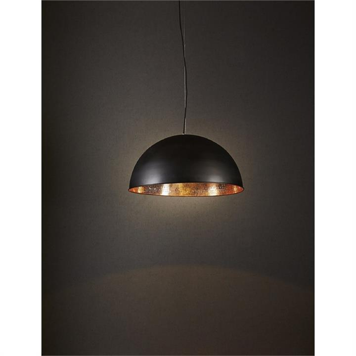 Alfresco Metal Dome Pendant Light - Black/Copper