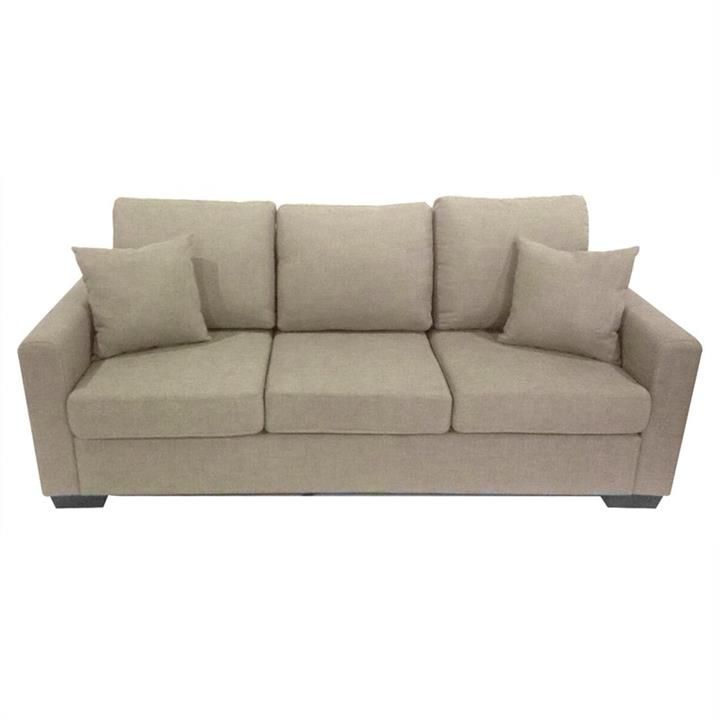 Club Fabric 3 Seater Sofa - Taupe