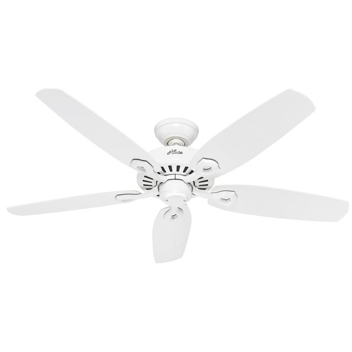 Hunter Builder Elite White Ceiling Fan with White Blades