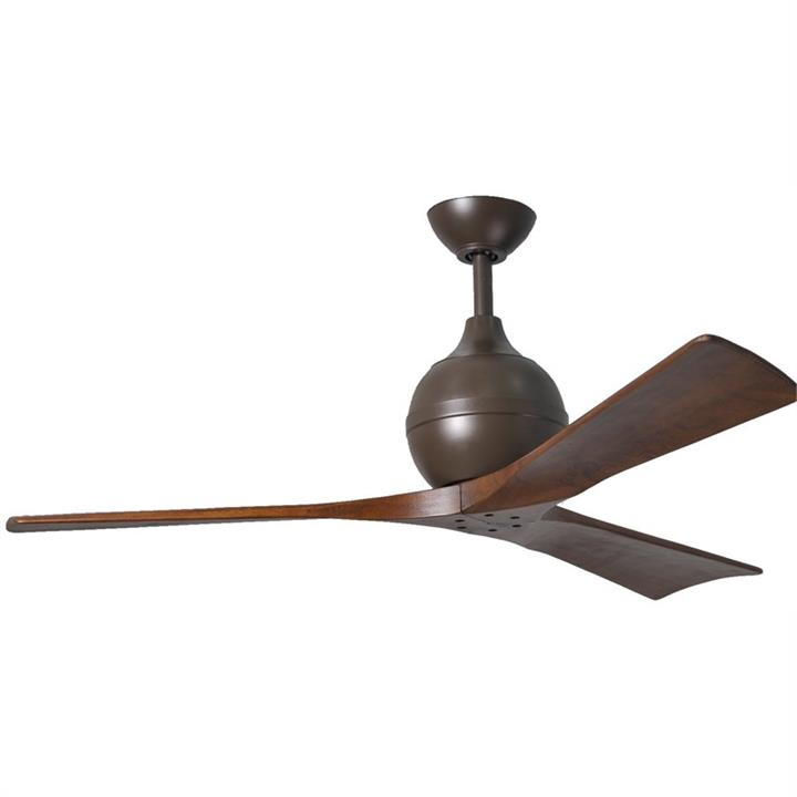 Atlas Irene-3 Ceiling Fan whith Wooden Blades - Textured Bronze