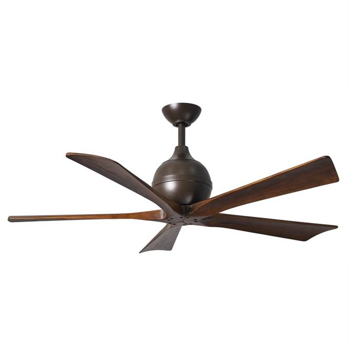 Atlas Irene-5 Ceiling Fan whith Wooden Blades - Textured Bronze