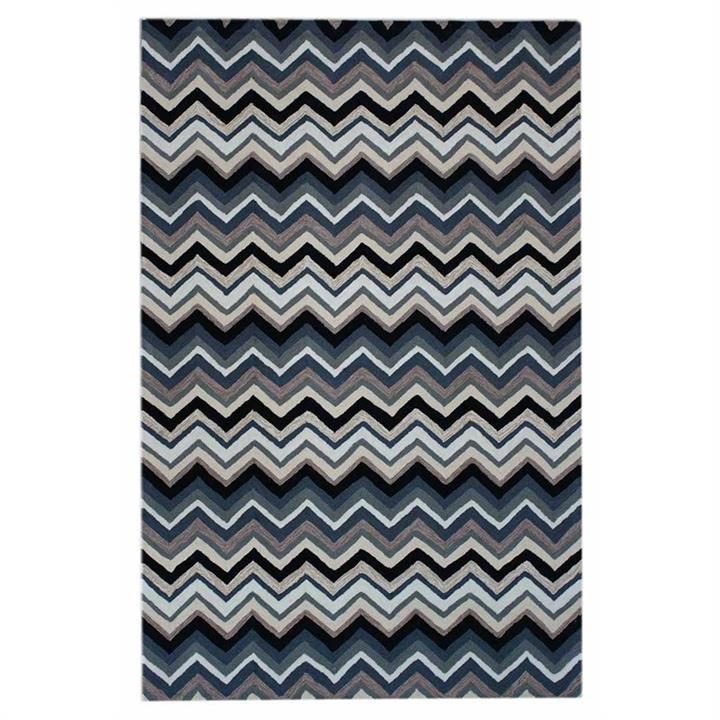 Anywhere Chevron Hand Tufted Indoor/Outdoor Rug, 240x340cm, Charcoal