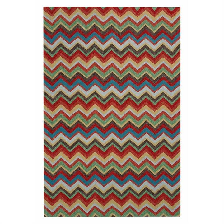 Anywhere Chevron Hand Tufted Indoor/Outdoor Rug, 240x340cm, Rainbow