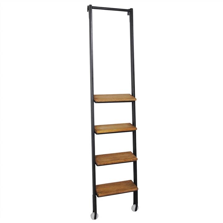 Alford Industrial Timber Step Metal Frame Ladder for 6 Tier Display Shelf