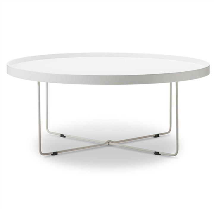 Annabel 90cm Round Coffee Table - White
