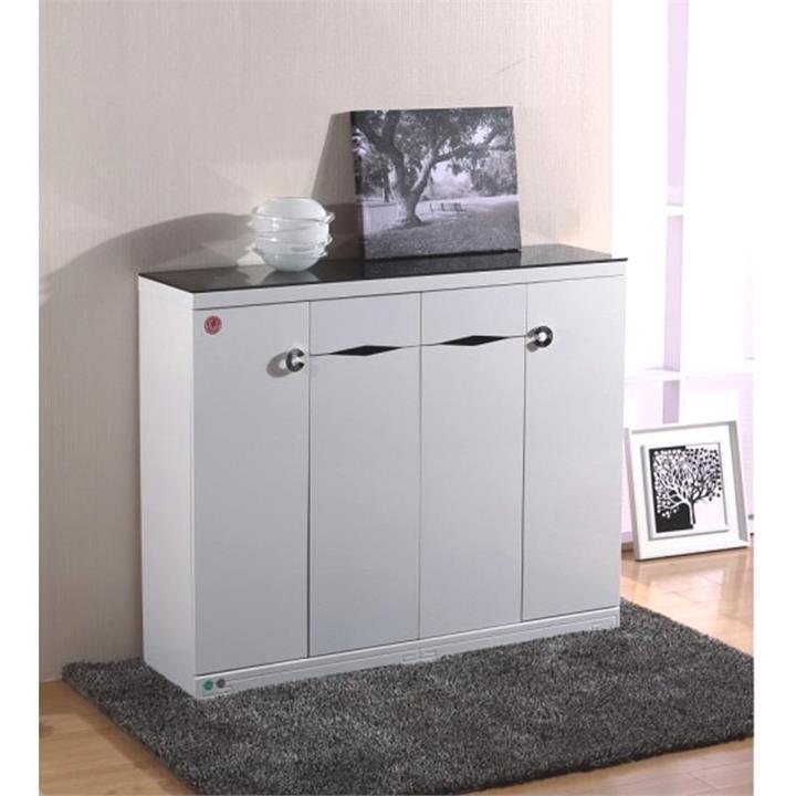 Findon High Gloss 4 Door 2 Drawer Shoe Cabinet