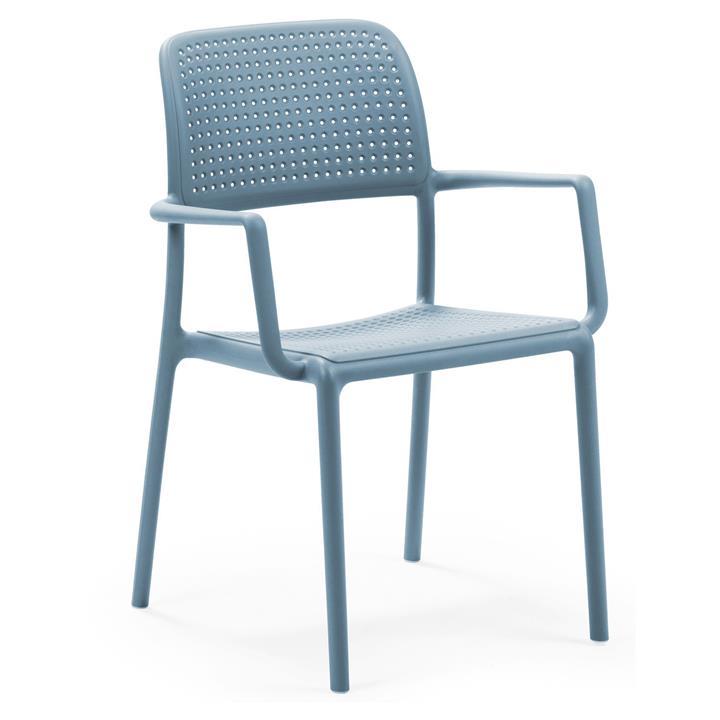 Bora Italian Made Commercial Grade Stackable Indoor/Outdoor Armchair - Blue