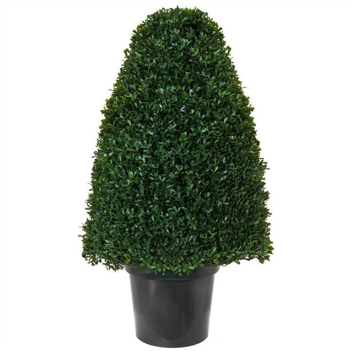 Artificial Tea-Leaf Topiary in Pot