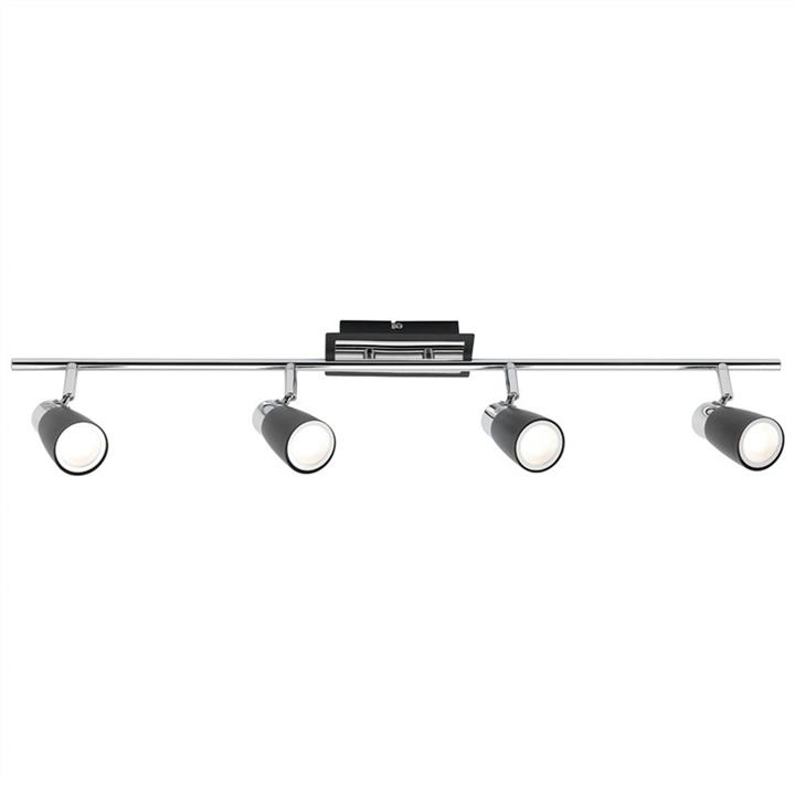 Alecia 4 Light Spotlight Bar, Black
