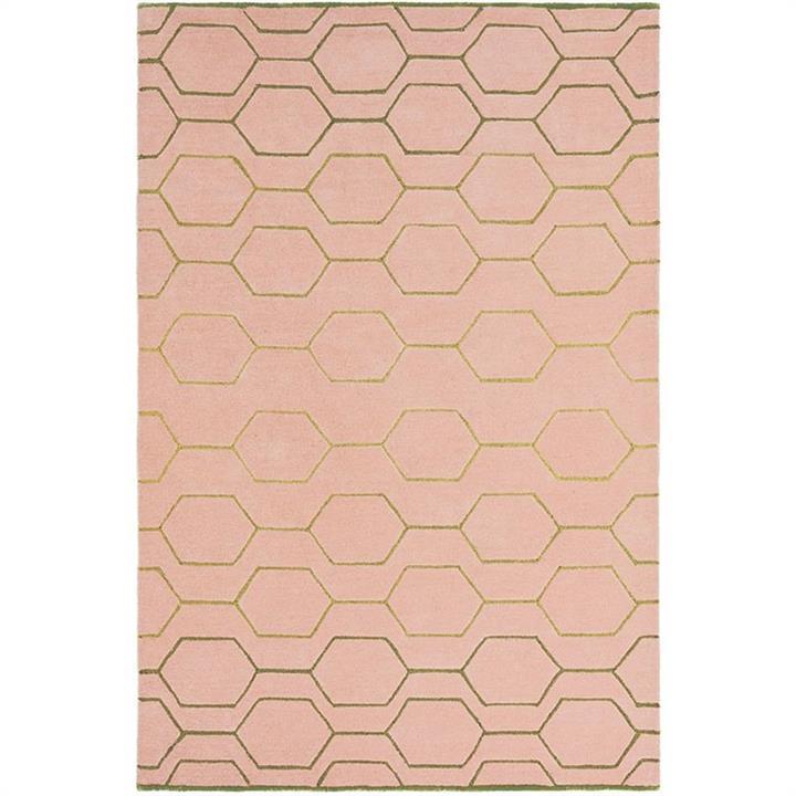 Wedgwood Arris Hand Tufted Designer Wool Rug, 280x200cm, Pink