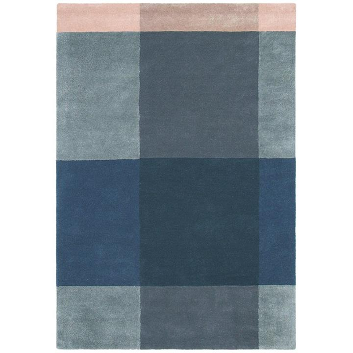 Ted Baker Plaid Hand Tufted Desinger Wool Rug, 280x200cm, Grey