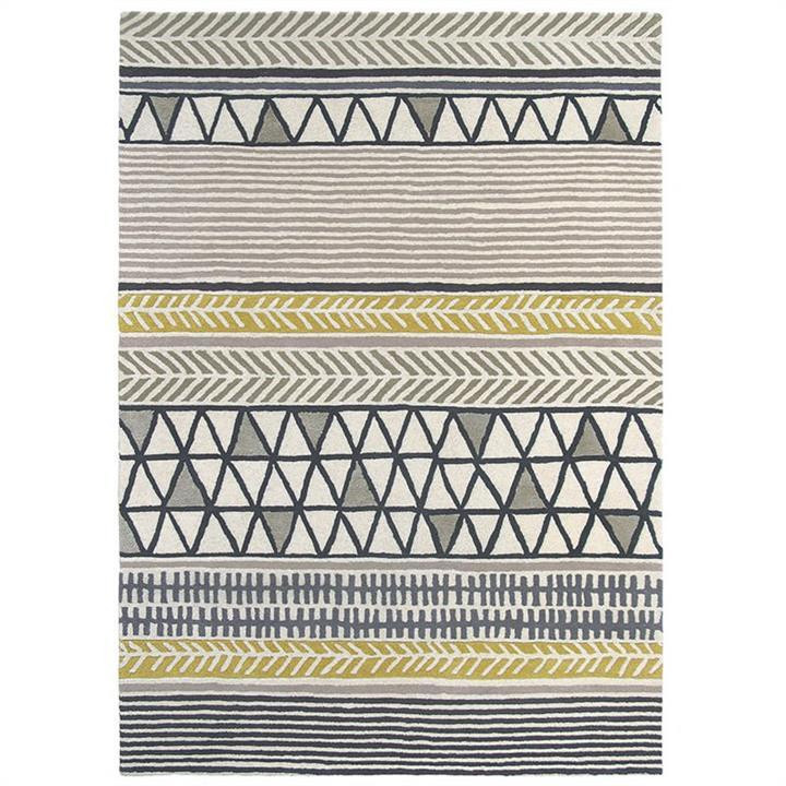 Scion Raita Hand Tufted Designer Wool Rug, 280x200cm, Taupe