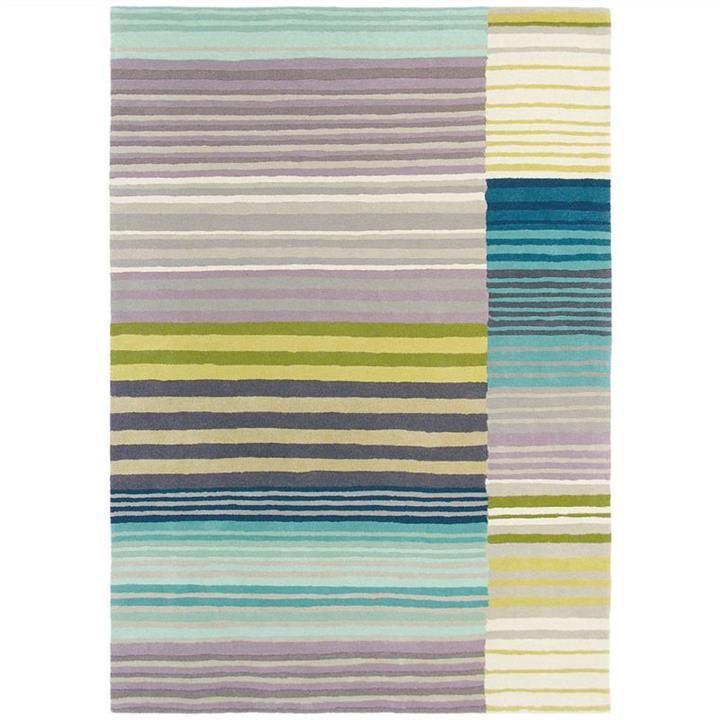 Scion Medini Hand Tufted Designer Wool Rug, 240x170cm, Lagoon