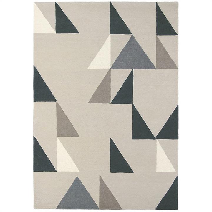 Scion Modul Hand Tufted Designer Wool Rug, 240x170cm, Charcoal