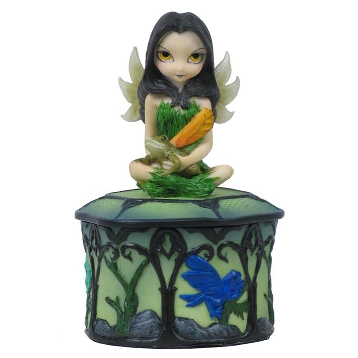 Jasmine Becket-Griffith's Strangeling Fairies Trinket Box, Guardian of the Woods