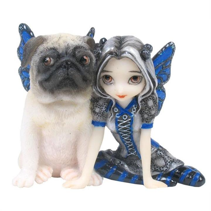 Jasmine Becket-Griffith's Strangeling Fairies Figurine, Pug Pixie